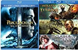 Percy Jackson: Sea of Monsters & Clash of the Titans / Wrath of the Titans Triple Feature Blu Ray Amazing Fantasy Olympians Double Feature