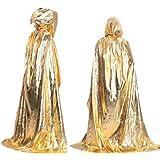 Malloom Halloween muerte capa capa adulto larga sección de trapear el piso Masquerade (Oro)