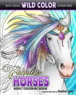 Fabulous Horses Adult Coloring Book Wild Color Volume 7