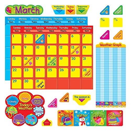 - Trend Enterprises Classic Calendar Duo Bulletin Board Set (102 Piece)