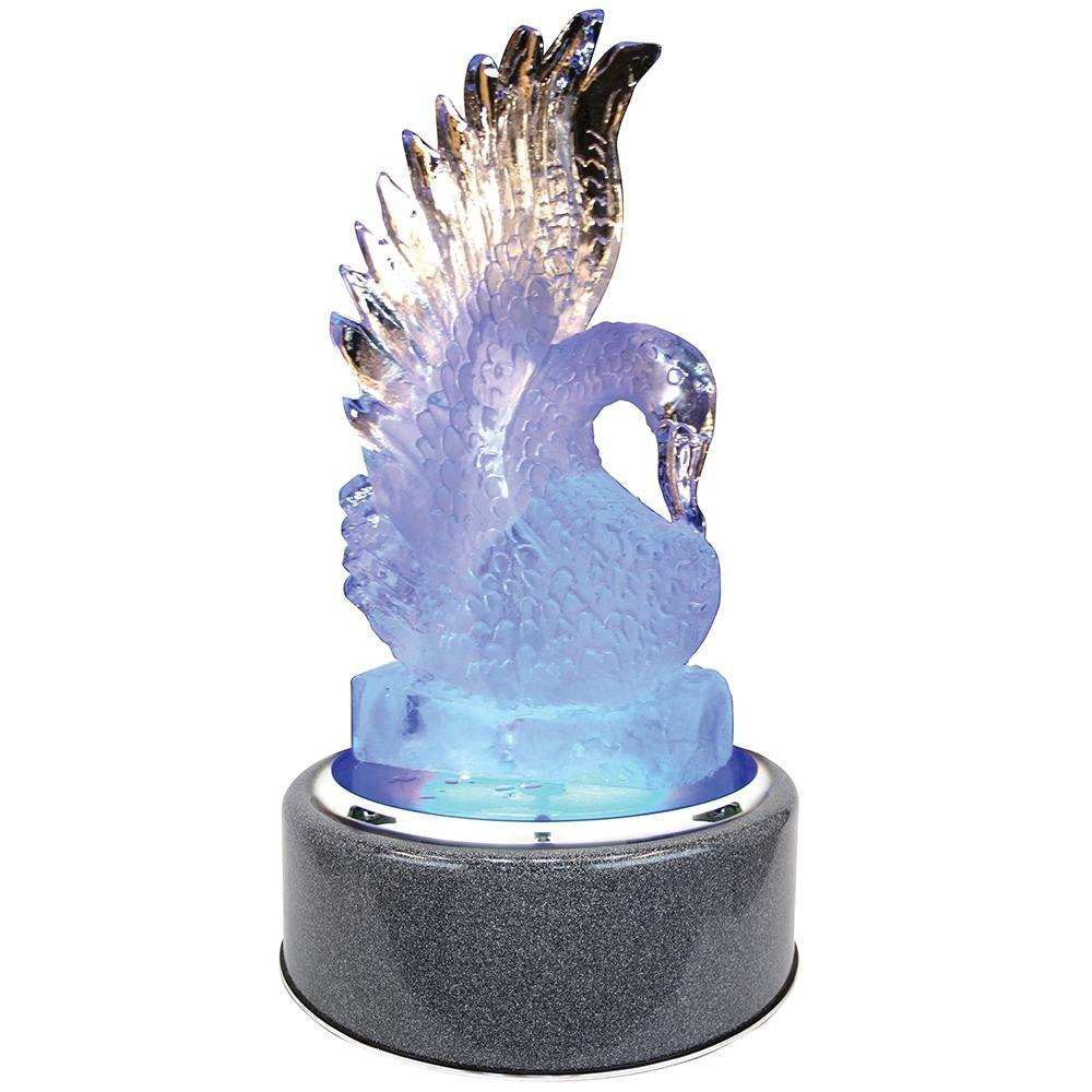 Buffet Enhancements 1BLRSRTBG Chefstone 30'' Lighted Rotating Ice Display - Blue Granite Base