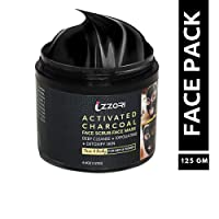 IZZORI Activated Charcoal Two in One Face Scrub & Pack From Bamboo extracts Helps in Acne Oily Skin Blackheads Treatment Anti Pollution Shield Detoxify Pores Remove Tan for Men & Women Clear Skin Tone From Natural Ingredients Source - 125 gm