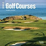 Golf Courses 2018 7 x 7 Inch Monthly Mini Wall Calendar, Golfing Sports
