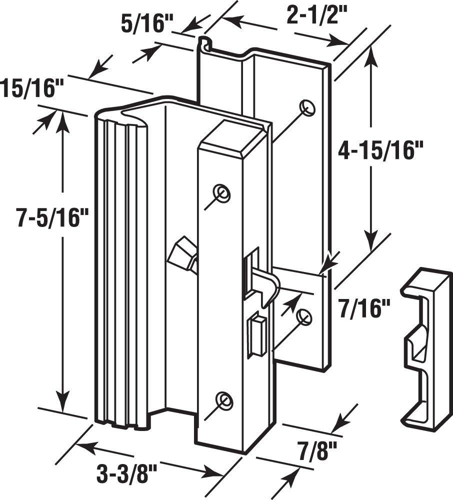 Prime-Line Products C 1191 Low Profile/Low Base Latch Handle, White Aluminum