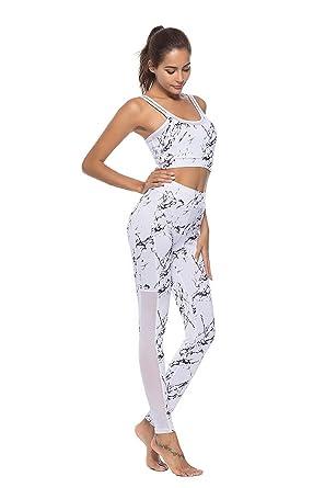 Fliegend Chandal Mujer Deporte Impresión Conjuntos de Yoga BH Tops ...
