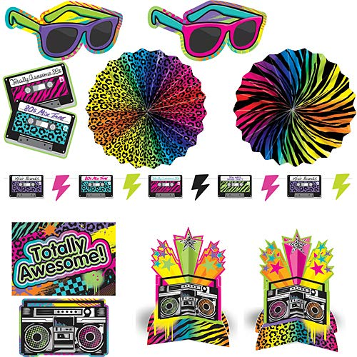 80's Party Decorating Kit -