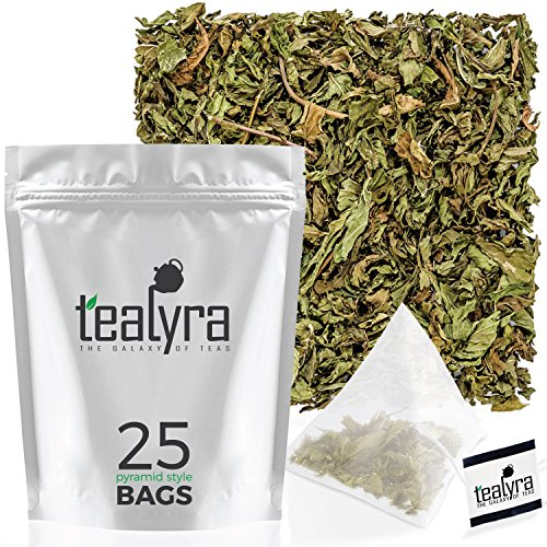 Tealyra - Pure Spearmint Leaves - 25 Bags - Best African Min