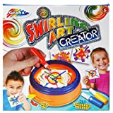 SWIRLING ART CREATOR CREATIVE KIDS FUN GIFT PAINT PICTURE SPINNING XMAS SET NEW