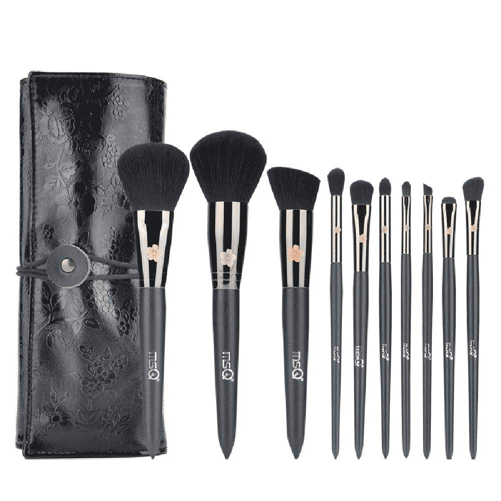 10 Forget-me-not Makeup Brush Set Professional Solid Wood Brush Rod Cosmetics Set Eye Shadow Blush Brush Beauty Tools