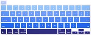 HRH Ultra Thin Silicone Keyboard Cover Skin for MacBook Newest Pro 13.3