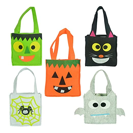 BESTonZON 5pcs Bolsas de Dulces de Halloween portátiles ...