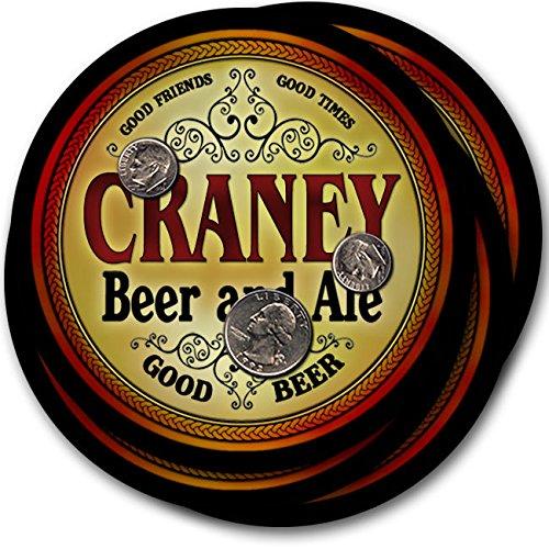Craneyビール& Ale – 4パックドリンクコースター   B003QXIYDI