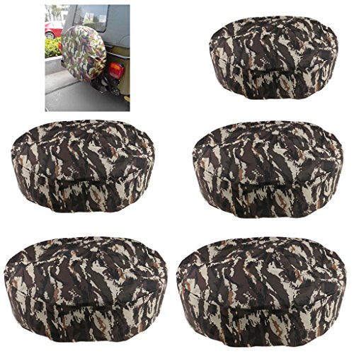 MagiDeal 2pcs 15''/14'' Universal Camo Car Truck Van Rear Spare Tire Tyre Wheel Cover by Unknown (Image #3)