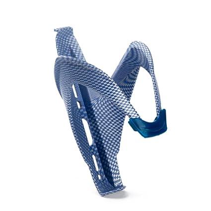 Durable plástico + cristal fibras ciclismo titular de la botella de agua de fibra de carbono