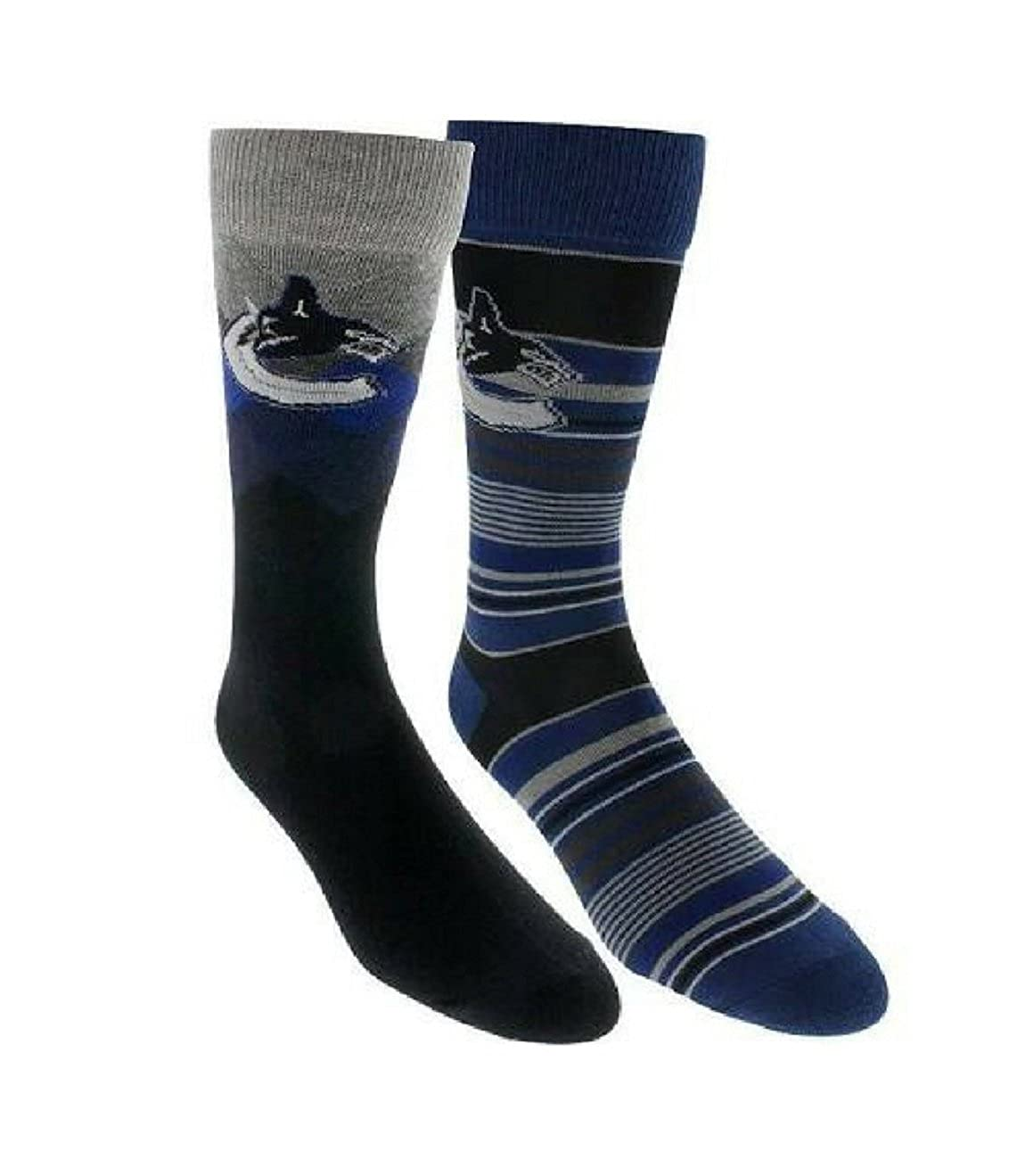 NHL Men's Vancouver Canucks 2-Pack Dress Socks Gertx