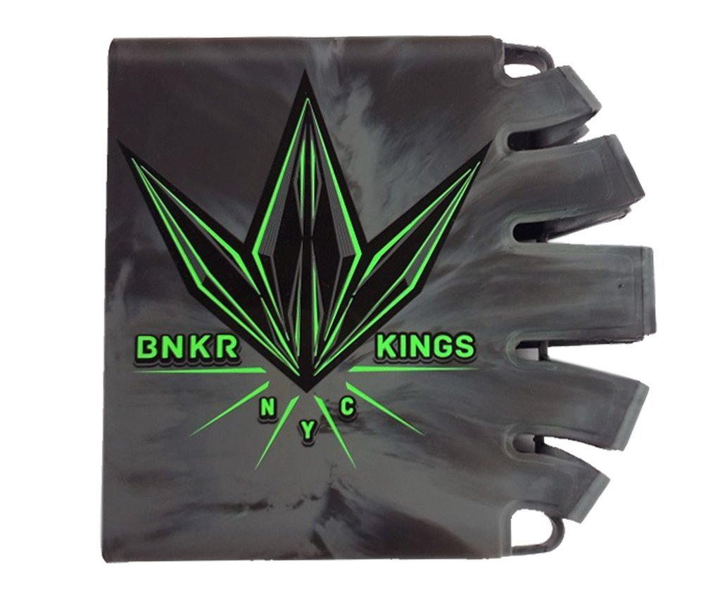 Bunker Kings Knuckle Butt Supreme Carbon Fiber Tank Cover Grip (Beatdown City - Lime/Gray) by Bnkr Kings