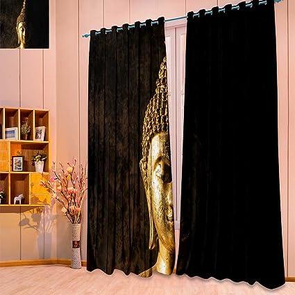 Amazoncom Septsonne 2 Panel Set Digital Printed Window Curtains
