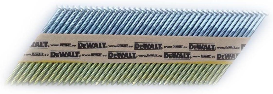Set de 2200 Pi/èces Taille 34//90 mm Dewalt DNW28R90E Clou Argent