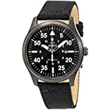 Orient Flight Black Dial Black Leather Mens Watch FUNG2003B