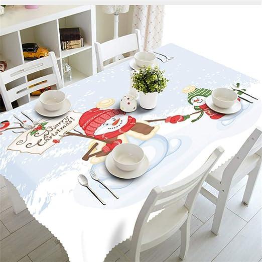 Shuangklei Año Navidad Mantel Cocina Comedor Decoraciones De Mesa Fiesta En Casa Cubiertas De Mesa Adornos-90X120Cm: Amazon.es: Hogar