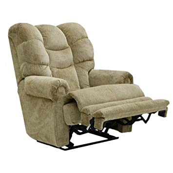catnapper malone fabric oversized lay flat recliner
