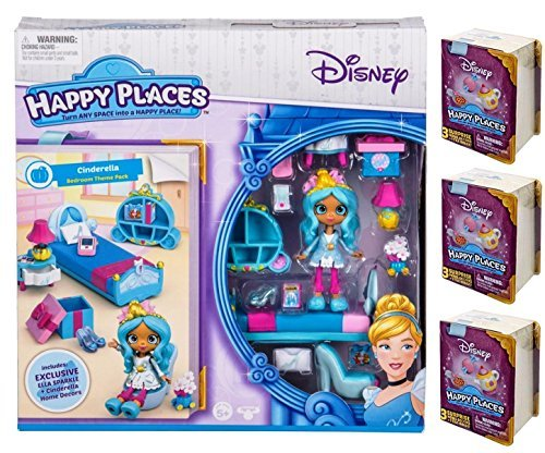 Happy Places Disney Cinderella Sweet Dreams Theme Pack PLUS 3 Surprise Packs!