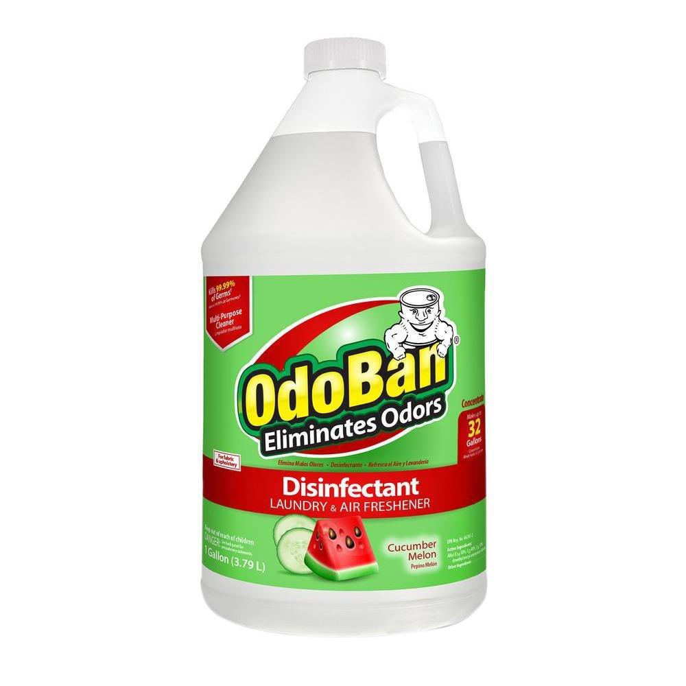 OdoBan 1 Gal Concentrate 4-Pack, Cucumber Melon Scent - Odor Eliminator, Disinfectant, Flood Fire Water Restoration