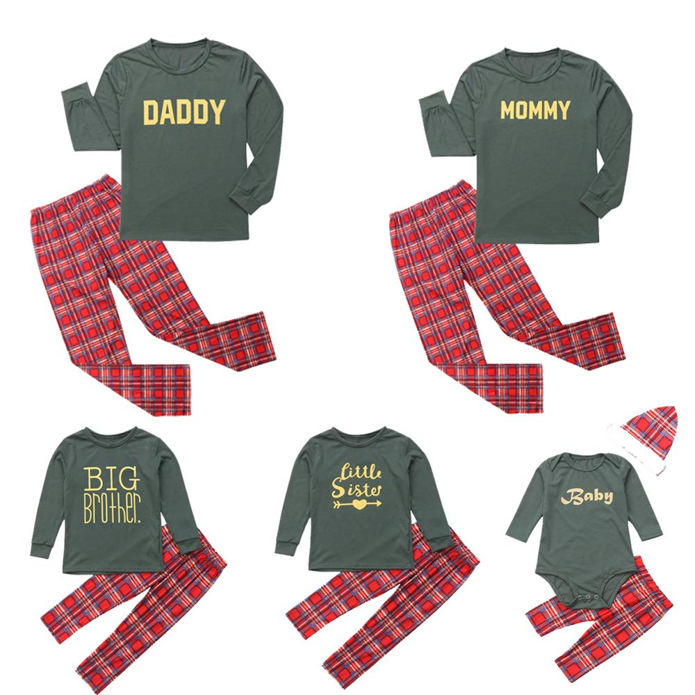 Imcute Christmas Family Matching Pajamas Set Daddy Mommy Brother Sister Baby Outfit