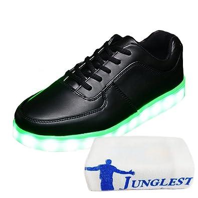 (Present:kleines Handtuch)Schwarz 2 EU 35, LED Turnschuhe Leuchtende mit Sneaker JUNGLEST® mode