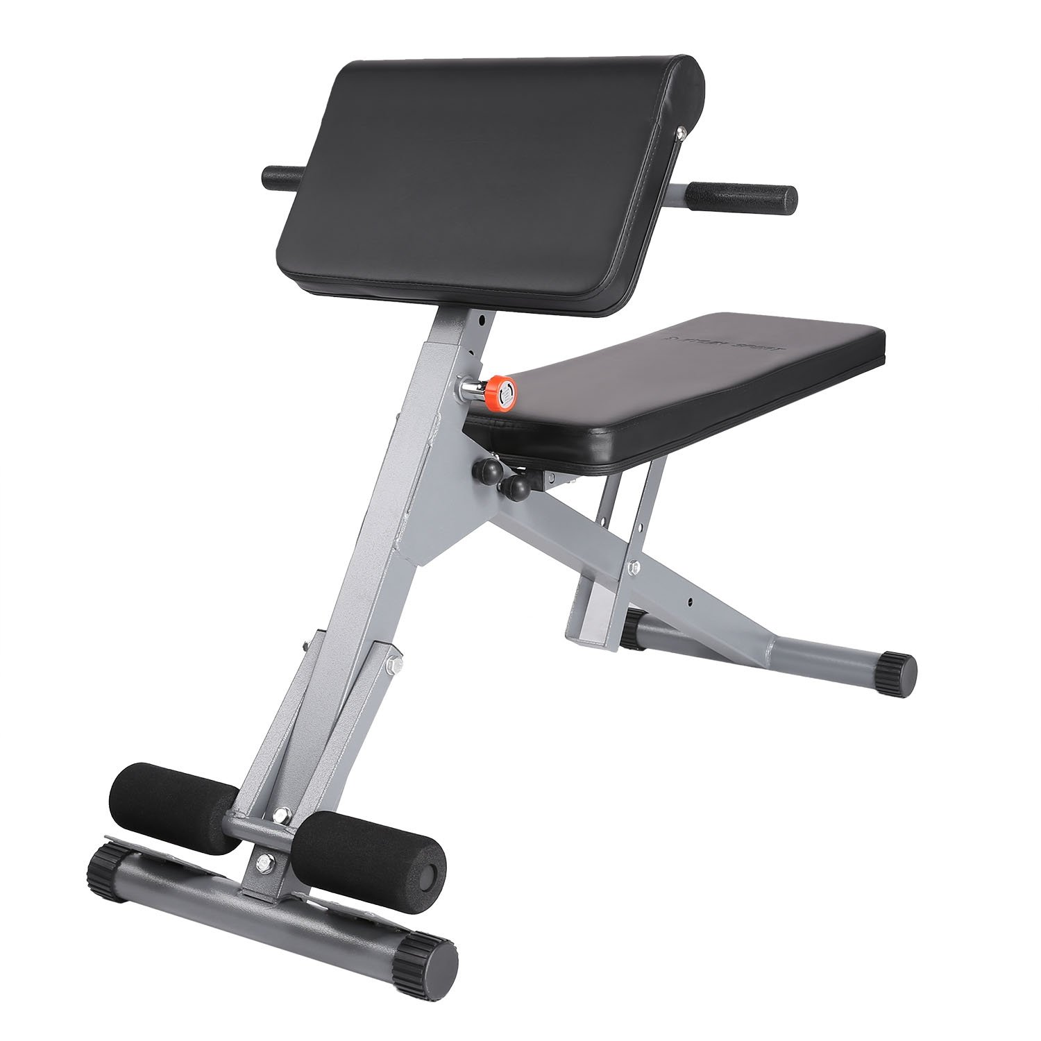 Adjustable Weight Supine Dumbbell Bench, Fitness Roman Chair for Ab Hyperextention Strength Training(US STOCK)