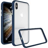 RhinoShield Coque pour iPhone X/XS [CrashGuard NX] Protection Fine Personnalisable - Absorption des Chocs [sans BPA] + [Programme de Remplacement Gratuit] - Combo Bleu Roi/Blanc