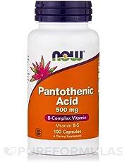 Now Foods Pantothenic Acid 500 mg - 100 Capsules