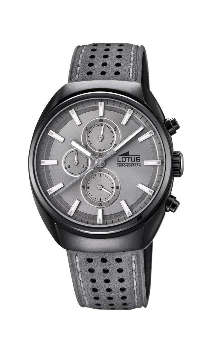 Men's Watch Lotus - L18567/3 - Quartz - Chronograph - Grey and Black - Leather Band by Lotus