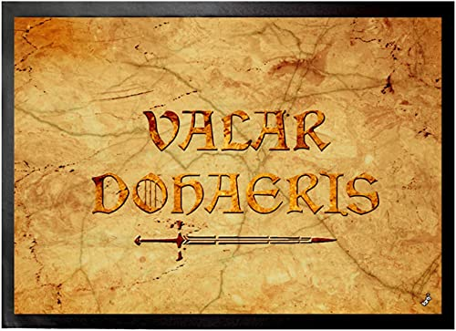 1art1 Quotations Door Mat Design Floor Mat – Valar Dohaeris, GOT 28 x 20 inches