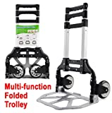 Popamazing Heavy Duty Aluminium 80kg Folding Foldable Hand Sack Truck Barrow Cart Trolley Industrial Warehouse
