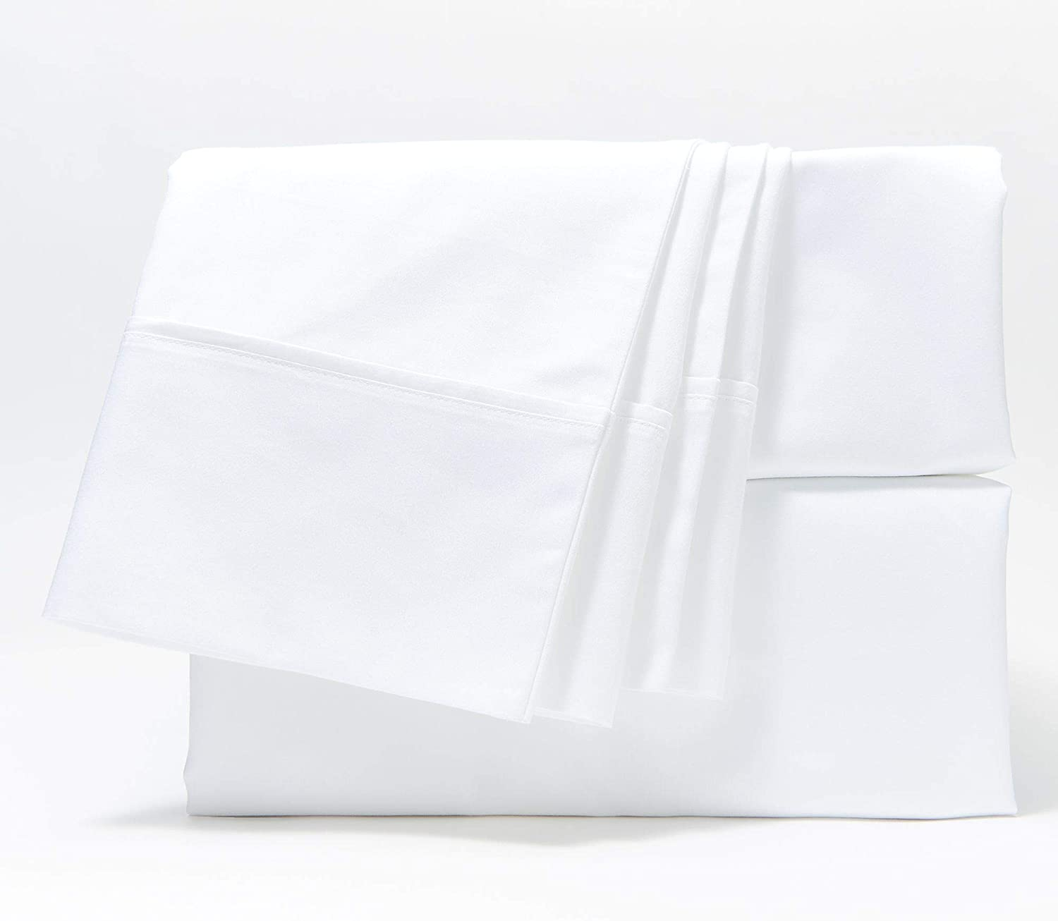 Home Reflections 500TC Cotton Blend Sheet Set w/ Extra Cases White King CB4