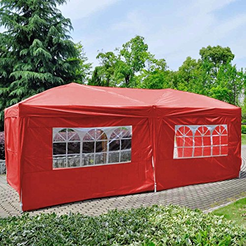 Orange 2PC Side Walls Cloth W/ Window For EZ POP UP Folding Wedding Party Tent (Evanston Sand)
