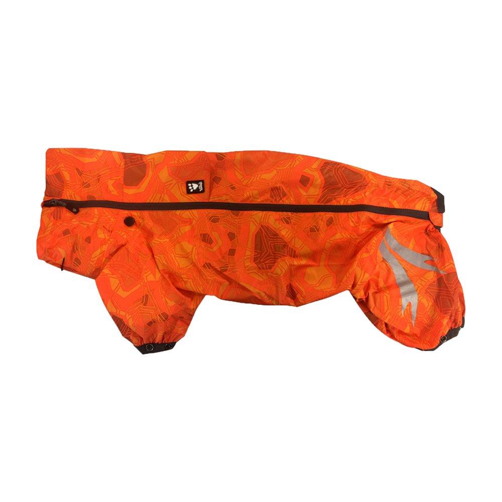 Hurtta Slush Combat Suit Waterproof Dog Overall, Orange Camo, 24M by Hurtta