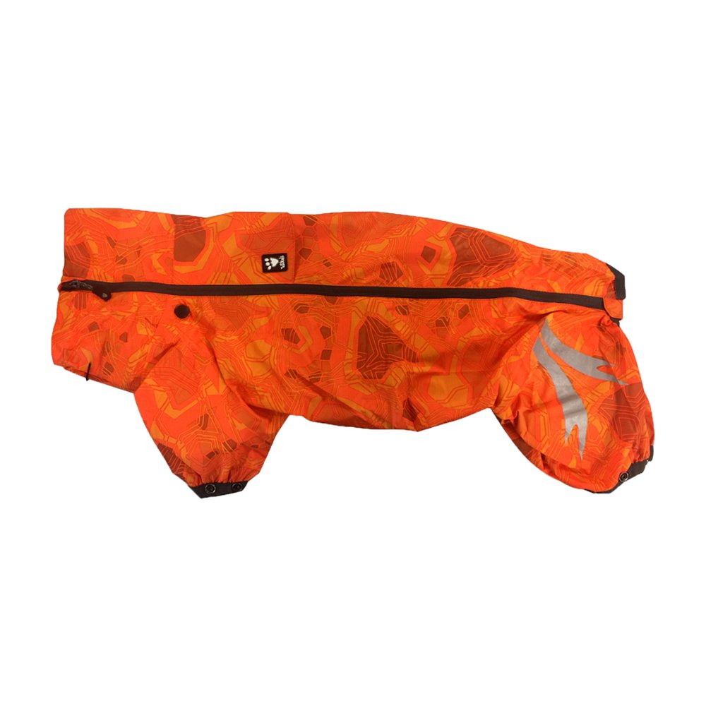 Hurtta Slush Combat Suit Waterproof Dog Overall, Orange Camo, 14S
