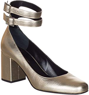 890906b9dfa Saint Laurent Women's Gold Metallic Babies 70 Double Strap Pumps Shoes