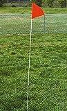 Goal Sporting Goods Skills Corner Marker Flag w Fiberglass Pole - 4 Pc Set
