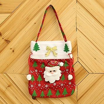 Amazon.com: Christmas Gift Bags Creative Festive Supplies Applique ...