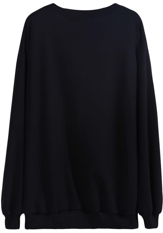 Sheinside® Femeninos-Sudadera con diseño de Arco Iris y Unicornio, Color Negro Negro: Amazon.es: Ropa y accesorios