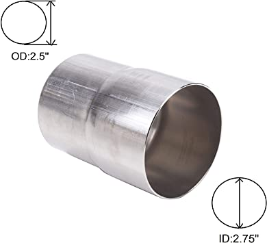 "2/"" ID 2 1//4/"" OD exhaust reducer adapter pipe connector jointer stainless steel"