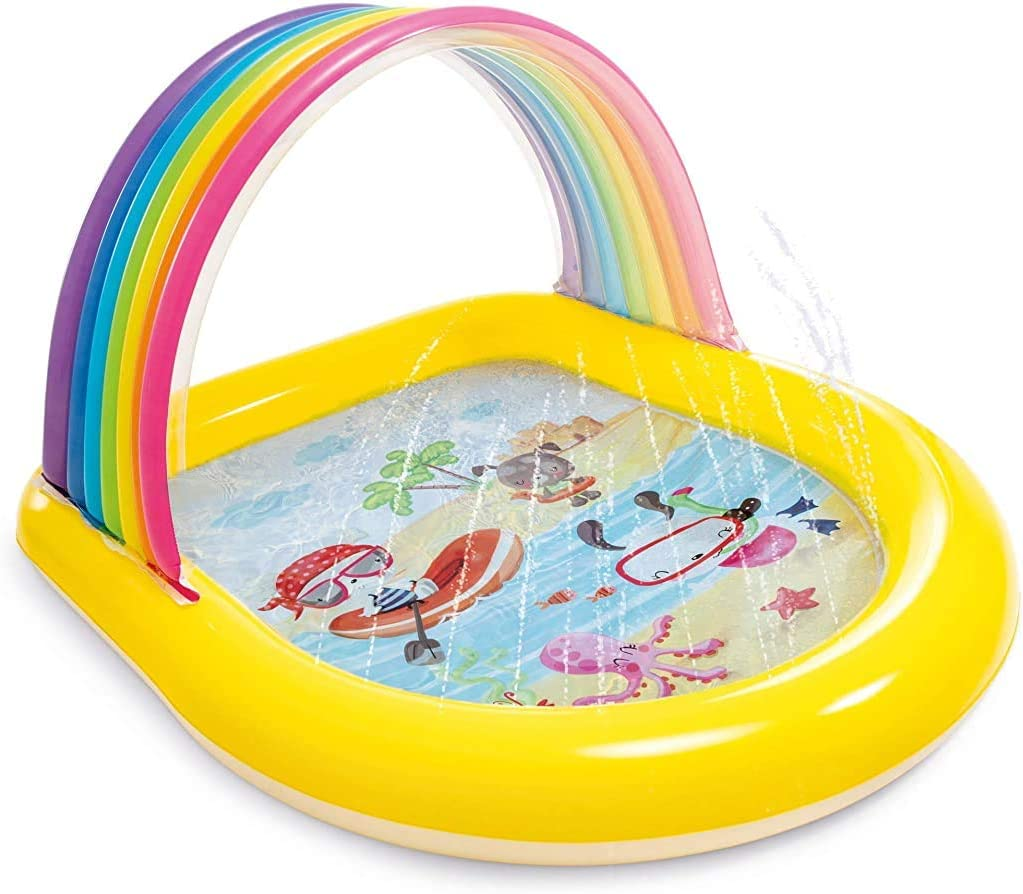 Intex Rainbow Arch Spray Pool, Infltable Kids Pool, for Ages 2+, Multi