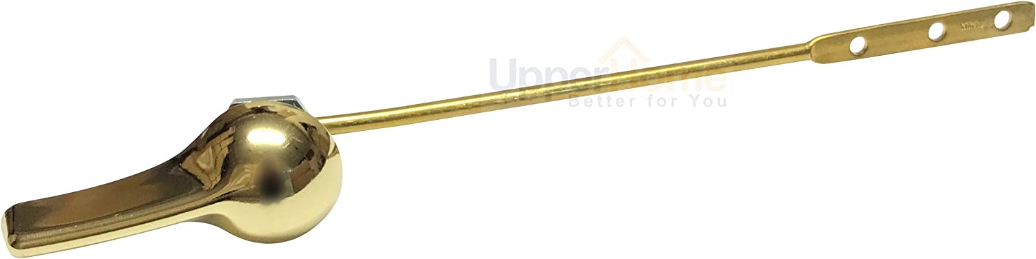 Universal Front Mount Toilet Tank Flush Lever, Finish Handle with Metal Nut, Fits Most Toilets (Brass)
