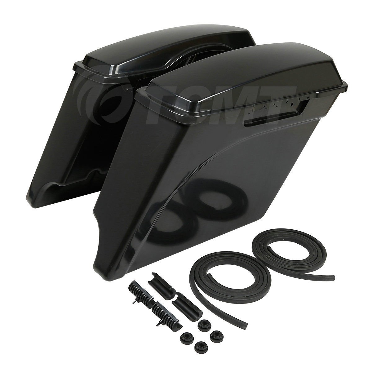 TCMT Unpainted 5'' Stretched Extended Hard Saddlebags Fits For Harley Touring Models 93-13