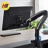 """NB North Bayou Support de Moniteur Support pour Écran PC sur Bureau Design Ergonomique Ressort à gaz avec Port USB (22-35"""" Noir)"""