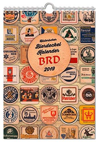 Historischer Bierdeckelkalender BRD 2019 (Bierdeckel- und Bieretikettenkalender)