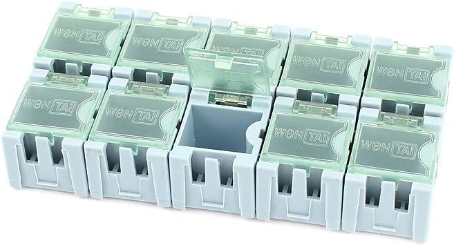 sourcingmap® 10 piezas Caja de almacenamiento multimedia ...